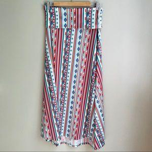 LuLaRoe Maxi Skirt Size S Small Geometric Pattern